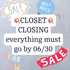 Moving on July 1st! Closet Clear Out!!